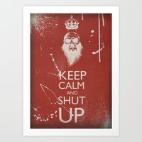 keep calm Art Prints featuring Keep Calm by ODDITY