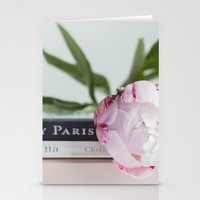 peony and paris Stationery Cards