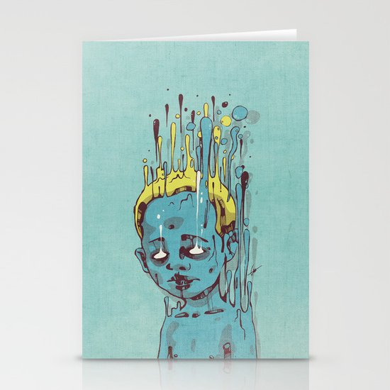 The Blue Boy with Golden Hair Stationery Card