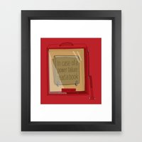 In Case Of A Power Failu… Framed Art Print