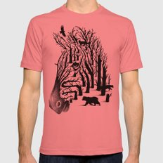 HIDDEN ANIMALS Mens Fitted Tee Pomegranate SMALL