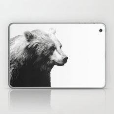 Bear // Calm (Black + White) Laptop & iPad Skin