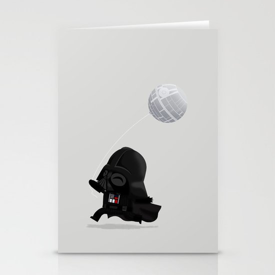 Beware, the Darth Star Stationery Card