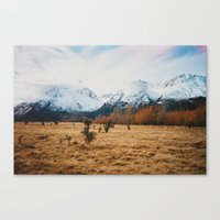 Peaceful New Zealand Mou… Canvas Print
