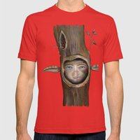Tree Life Mens Fitted Tee Red SMALL