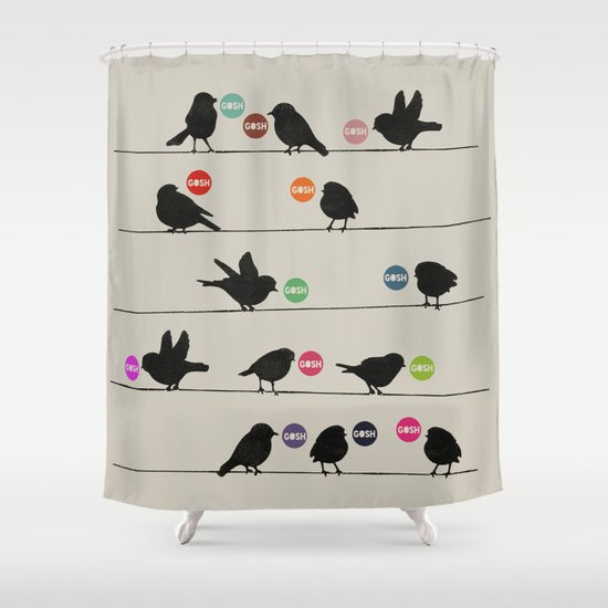 Birdsong Gosh by Rachel Burbee & Garima Dhawan Shower Curtain