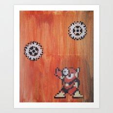 Metal man (megaman 2) Art Print