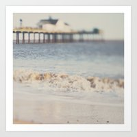 the waves running up against your feet ... Art Print