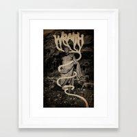 WRAITH - Swathe Framed Art Print