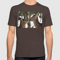 Chevreuil 001 Mens Fitted Tee Brown SMALL