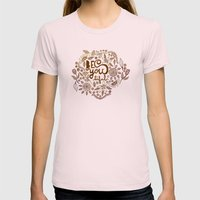 Be You Tiful (gold edition) Womens Fitted Tee Light Pink SMALL