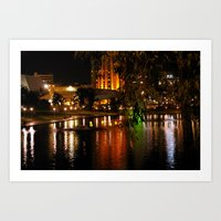 Night Time On The Torren… Art Print