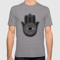 Hamsa B&W Mens Fitted Tee Athletic Grey SMALL