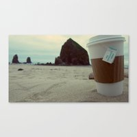 Sipping Tea at Cannon Beach Canvas Print