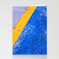 Abstract Blue and Yellow Stationery Cards