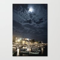 And the Moon to Rule the Sea Canvas Print