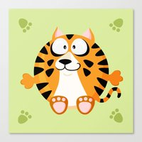 Tiger from the circle series Canvas Print