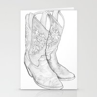 Cowboy Boots Stationery Cards