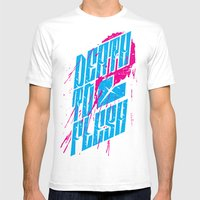 Death to Flesh Mens Fitted Tee White SMALL