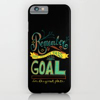 Remember why you set this goal in the first place - hand drawn typography motivational art iPhone 6 Slim Case