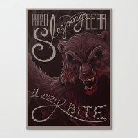 Don't poke the bear Canvas Print