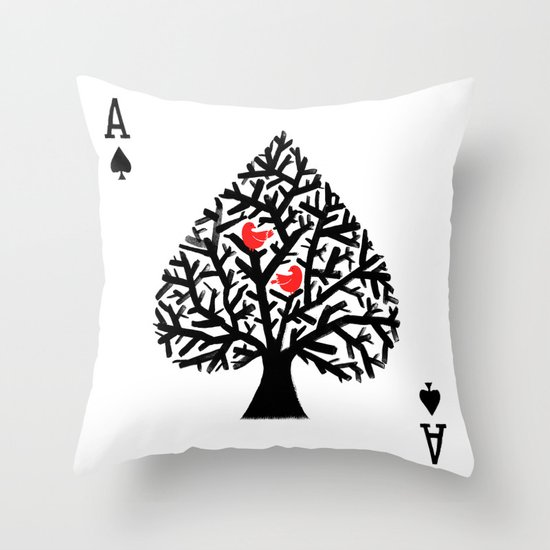 Ace of spade Throw Pillow