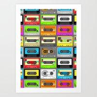 Retro 80s Cassette Tape … Art Print