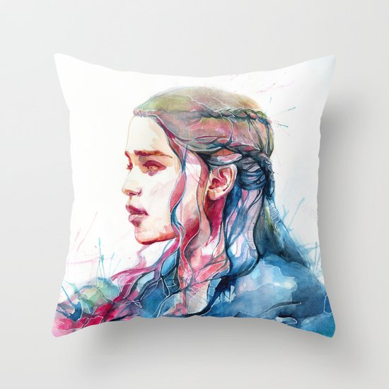 Dragonqueen Throw Pillow