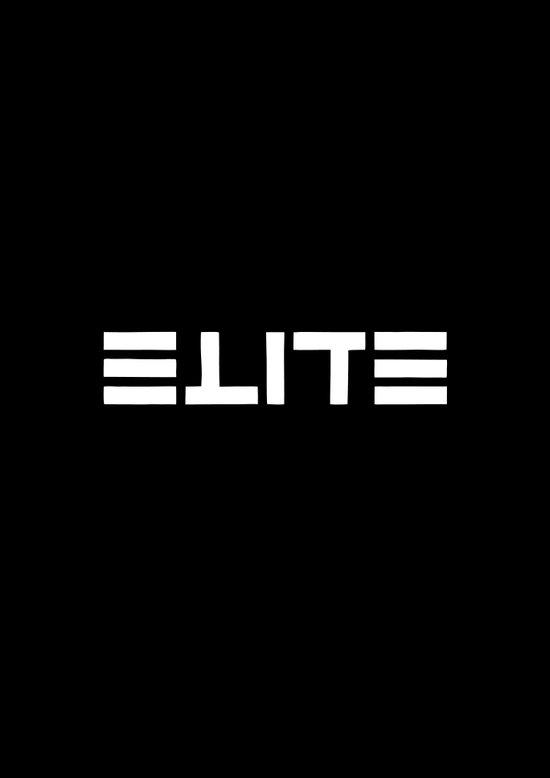 ELITE - Ambigram series (Black) Art Print