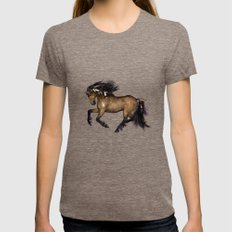 HORSE - Cherokee Womens Fitted Tee Tri-Coffee SMALL