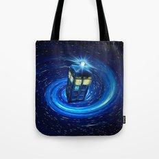 Tardis Blue Vortex Tote Bag