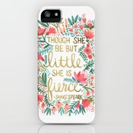 iPhone & iPod Case featuring Little & Fierce by Cat Coquillette