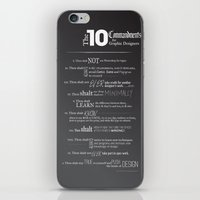 The 10 Commandments for Graphic Designers iPhone & iPod Skin