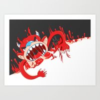 Monster!! Eats you whole! Art Print