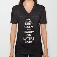 Keep Calm And Carry On L… Unisex V-Neck