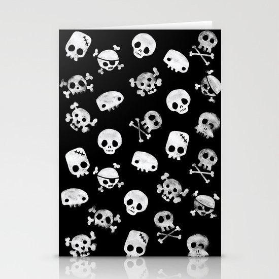 Cute Skull Stationery Card