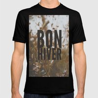 bon hiver. Mens Fitted Tee Black SMALL