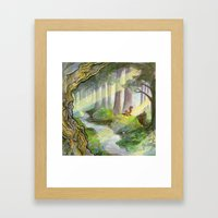 Ithilien, by a quiet stream Framed Art Print