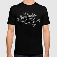 New Yorker For Life Mens Fitted Tee Black SMALL