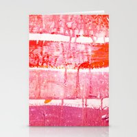 coral paint wash Stationery Cards