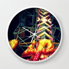Carnival Lights, The Zipper Wall Clock