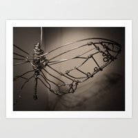 Broken Butterfly  Art Print