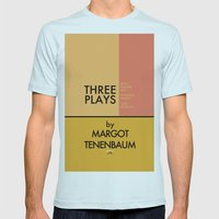 Three Plays By Margot Tenenbaum Mens Fitted Tee Light Blue SMALL