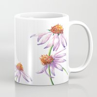 Watercolor Purple Cone Flower Mug