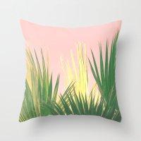 Neon Tropics II Throw Pillow