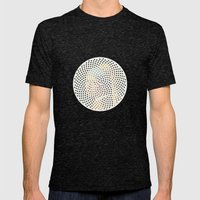 Optical Illusions - Famous Work of Art 3 Mens Fitted Tee Tri-Black SMALL