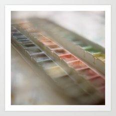 Water Color Paints Art Print