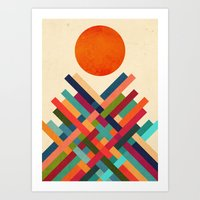 sun Art Prints featuring Sun Shrine by Picomodi