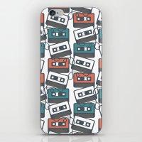 Cassette Tape Pattern iPhone & iPod Skin