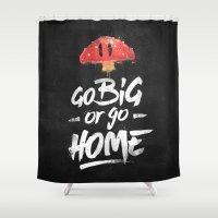 Go Big Or Go Home Mario … Shower Curtain